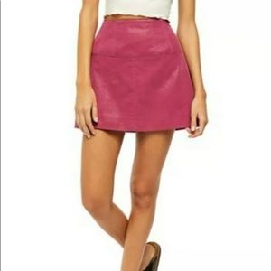 NWT* Free People Days In The Sun Suede Skirt